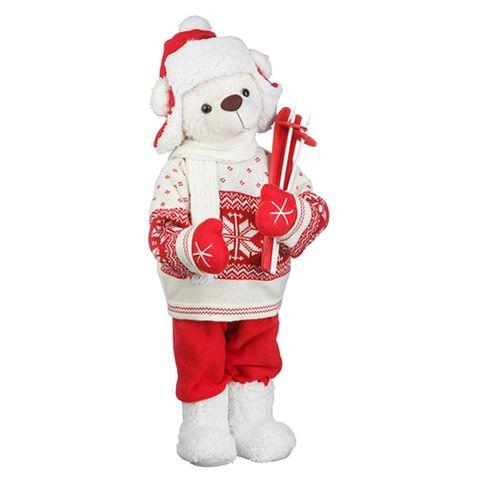 Urso Pelúcia Natal Esqui 50cm - Regina