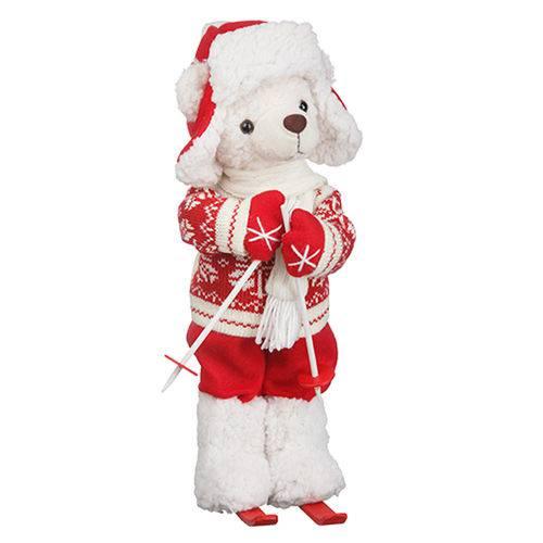 Urso Pelúcia Natal Esqui 36cm - Regina