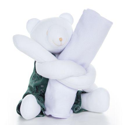 Urso Segura Pijama Dinossauro - Cara de Criança