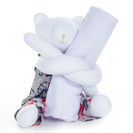 Urso Segura Pijama London - Cara de Criança