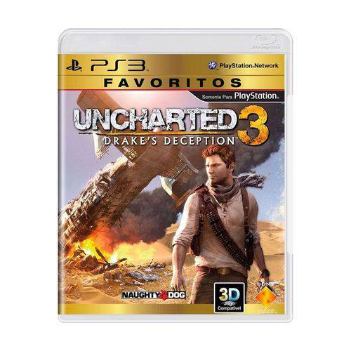 Usado: Jogo Uncharted 3: Drake's Deception - Ps3