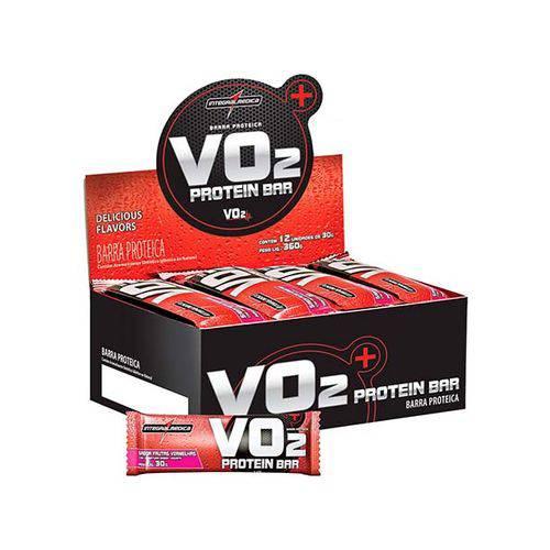 V02 Protein Bar 12 Unidades Frutas Vermelhas-Iogurt Integralmedica 30g (Barra)