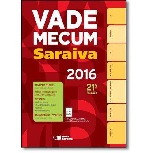 Vade Mecum Saraiva 2016: Tradicional