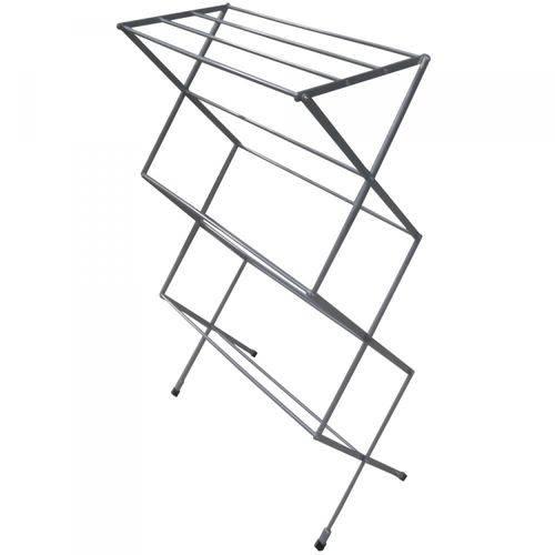 Varal Sanfonado de Chão Vertical Aluminio Branco