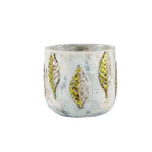 Vaso Cachepot Decorativo Cerâmica Cimento 16,5x14x16,5cm