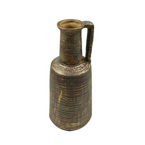 Vaso Ceramica 14 Cm Marrom