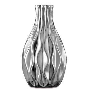 Vaso Cerâmica 6,5Cm Decorativo Prata 5628 Mart