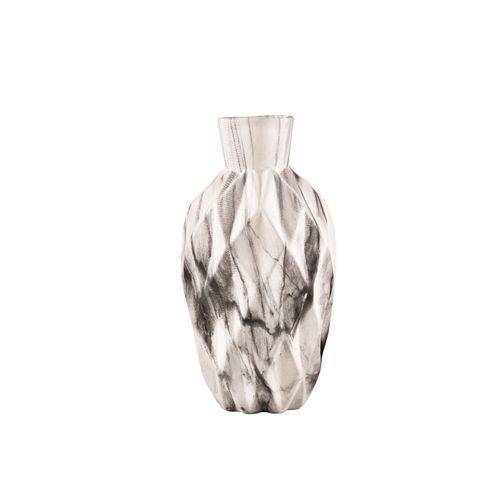 Vaso Cerâmica Efeito Mármore 13,5x7cm