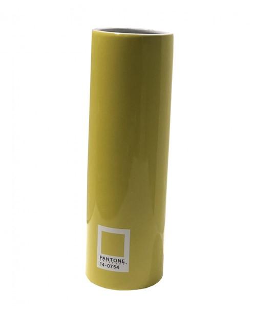 Vaso Cerâmica Pantone Amarelo 40x12cm - Occa Moderna