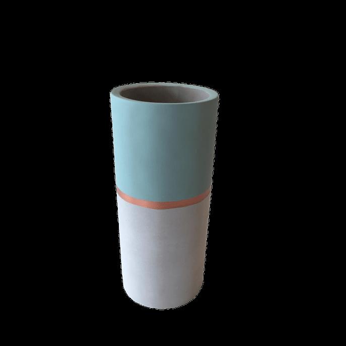 Vaso Cimento Listra Tiffany G ( 19,5 Cm X 8 Cm)