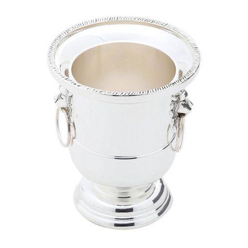 Vaso de Alumínio 7,5cm Prateado Prestige