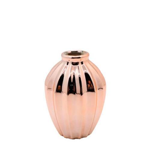 Vaso de Ceramica Dourado 11cm