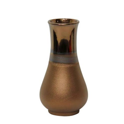 Vaso de Ceramica Dourado 21cm