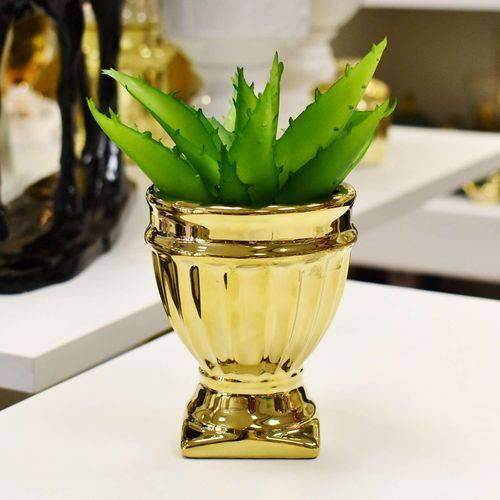 Vaso de Cerâmica Dourado - 56821