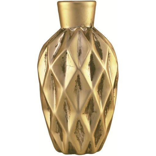 Vaso de Cerâmica Dourado Bone 6983 Mart