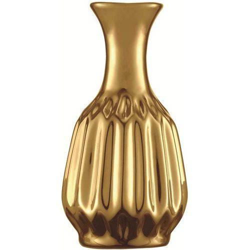 Vaso de Cerâmica Dourado Pretória 5644 Mart