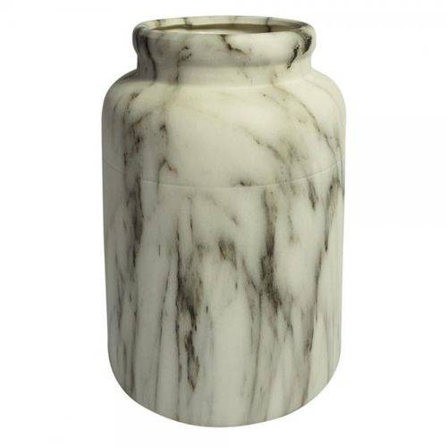 Vaso de Cerâmica Marmorizado 14cm X 14cm X 19cm