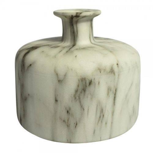 Vaso de Cerâmica Marmorizado 15,5cm X 15,5cm X 13,5cm