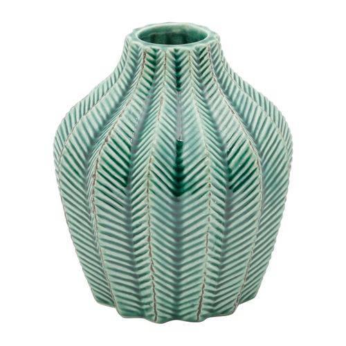 Vaso de Cerâmica Verde Leaves Pequeno Urban