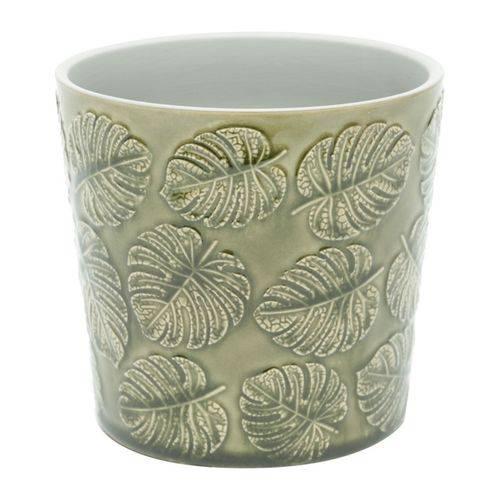 Vaso de Cerâmica Verde Masamba Grande Urban