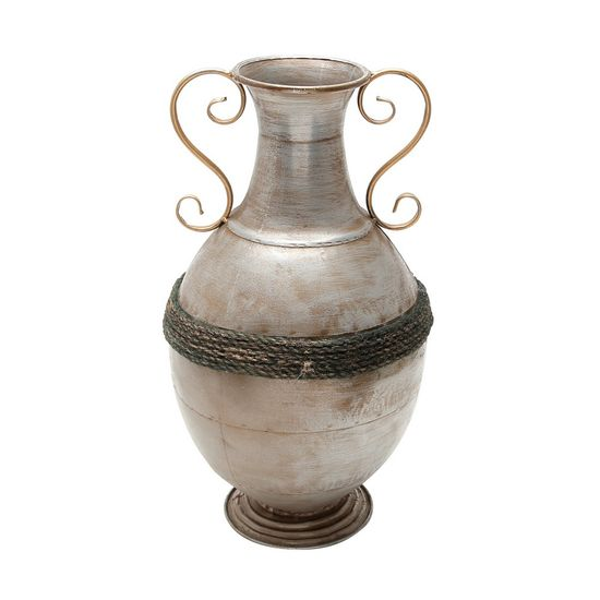 Vaso de Ferro Niquelado 26,25 X 45,62 Cm