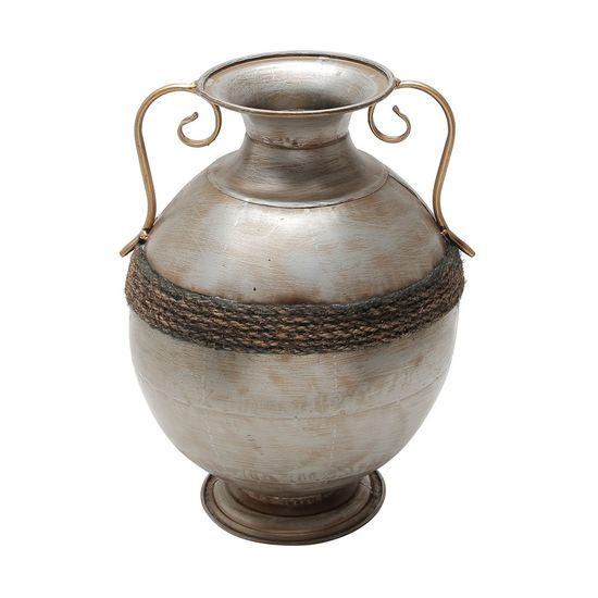 Vaso de Ferro Niquelado 27,5 X 36,25 Cm