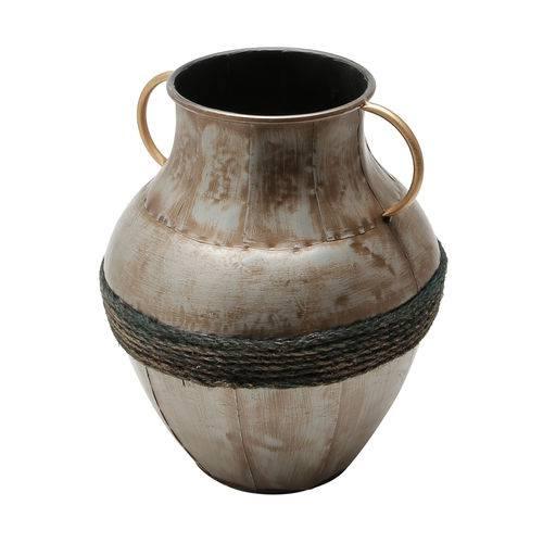 Vaso de Ferro Niquelado 28,75 X 32,5CM