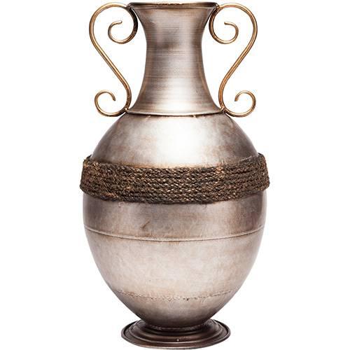 Vaso de Ferro Niquelado Prestige Cinza 26,2x45,6cm - Rojemac