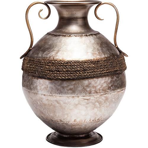 Vaso de Ferro Niquelado Prestige Cinza 27,5x36,25cm - Rojemac