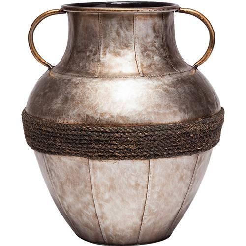 Vaso de Ferro Niquelado Prestige Cinza 28,7x32,5cm - Rojemac