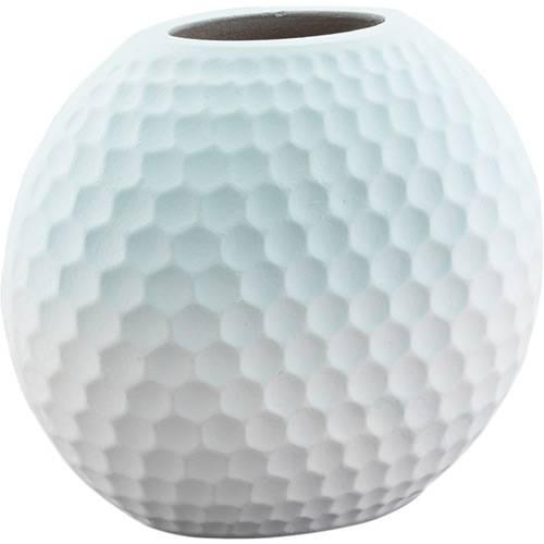 Vaso de Madeira Globe Verde 17x10x15cm - Prestige