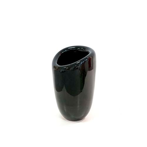 Vaso de Vidro Decorativo Preto G