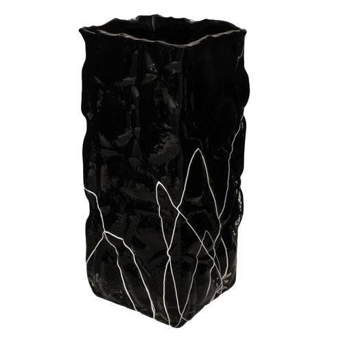 Vaso de Vidro Decorativo Preto