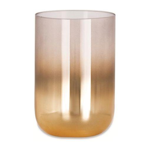 Vaso de Vidro Dourado 10cm Degradê Miguel Mart