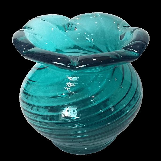 Vaso de Vidro Murano Tiffany P