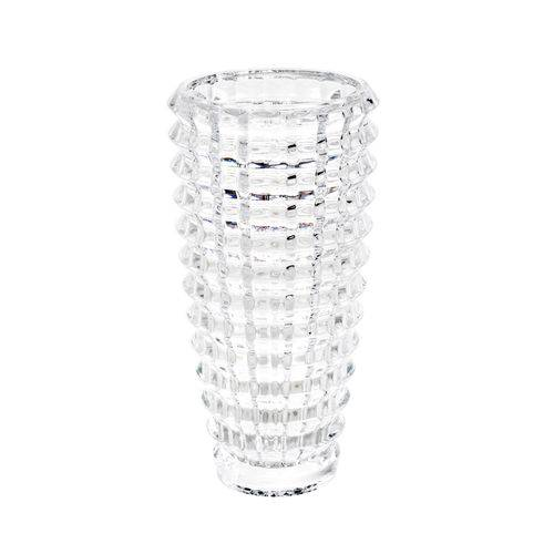 Vaso Decorativo de Cristal 13.5x24.5cm Diamond Wolff