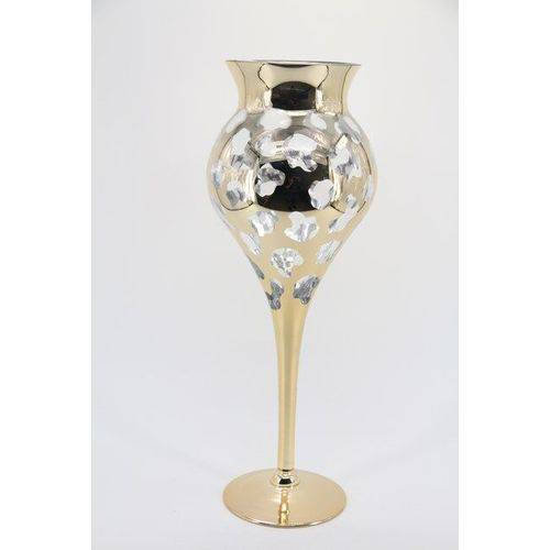 Vaso Decorativo em Vidro Dourado 60 X 12 - G1323