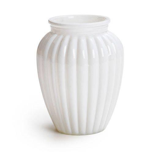 2 Vaso Decorativo Oval Branco 13 X 10 Cm Decoração Festas