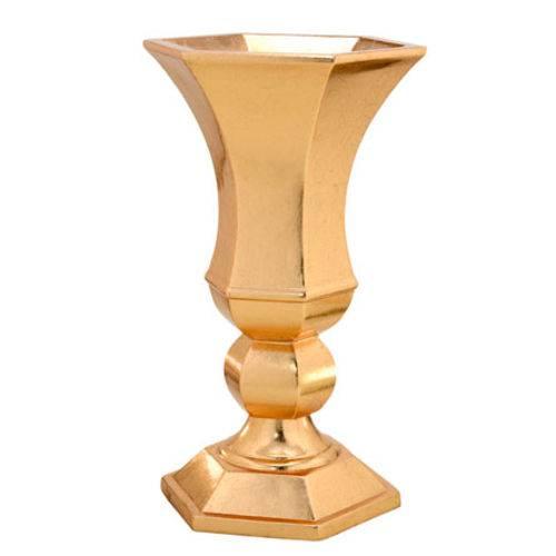 Vaso Dourado 31,5x31,5x60 Cm