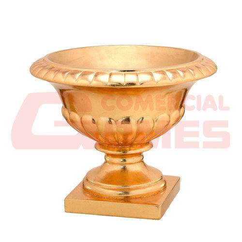 Vaso Dourado 47,5x47,5x39 Cm