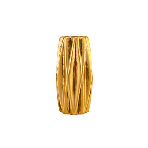 Vaso Dourado em Cerâmica 13,5 Cm