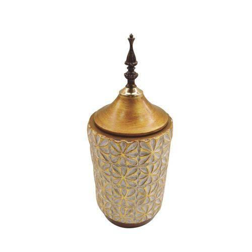 Vaso Dourado em Cerâmica