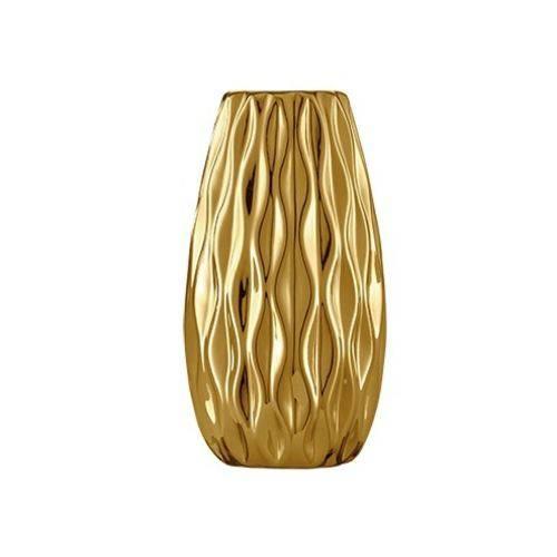 Vaso Dourado em Ceramica