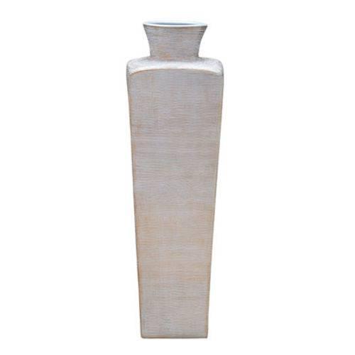 Vaso em Cerâmica Branco 60 Cm