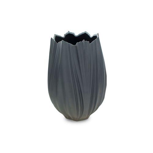 Vaso em Porcelana Preto Coral Neve 32cm