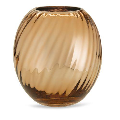 Vaso em Vidro Dourado 16,5x19,5cm