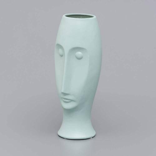 Vaso Ornamental de Cerâmica Face 30,5cm