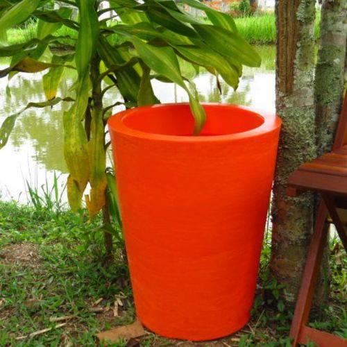 Vaso Planta 50x40 Redondo Cônico Polietileno