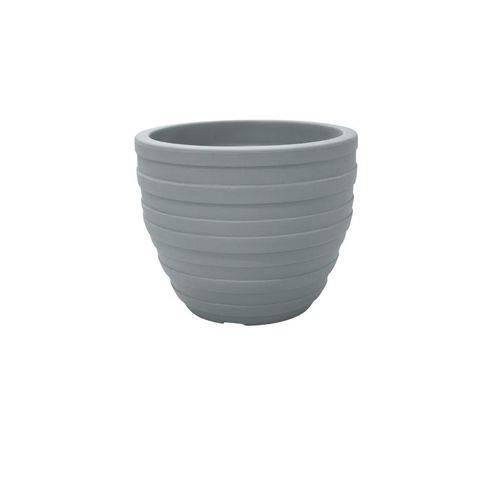 Vaso Plastico Inca 32 Cm Cimento