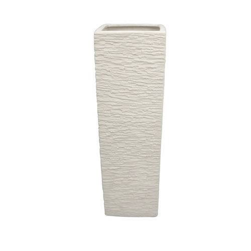 Vaso Quad Cerâmica Branco SRU2020.